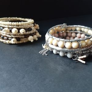 Pair of beaded bracelets